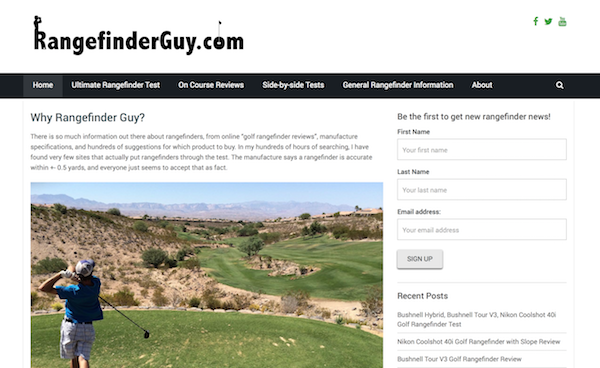 Rangefinder Guy Website Screenshot